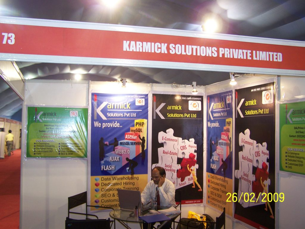 Our Stall at Indiasoft 2009
