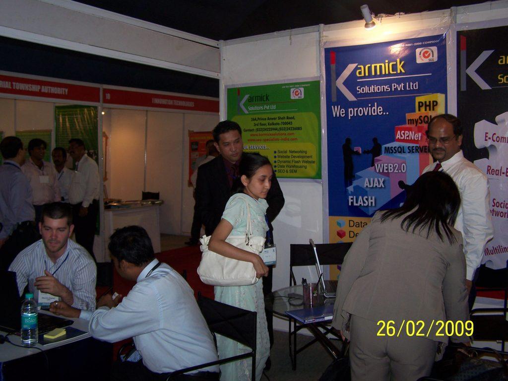 We and delegates at Indiasoft 2009